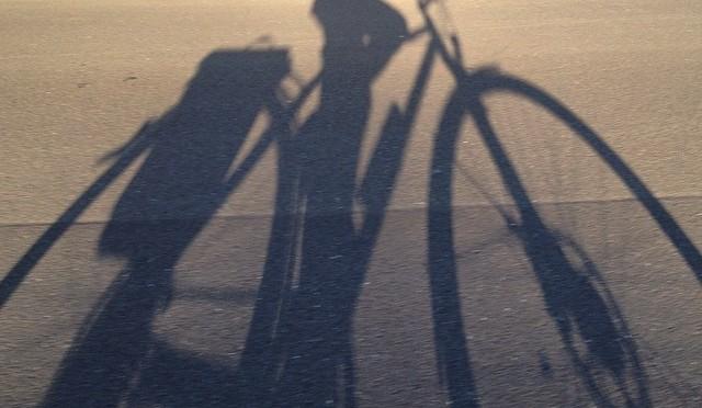 Guten Morgen! #Schattenspiel auf dem #Fahrrad #🚲