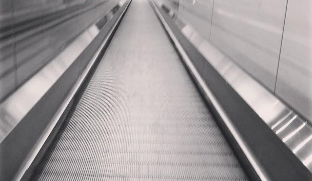 #Rolltreppe #abwärts