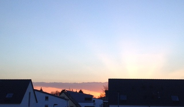 #Sonnenuntergang in #Itter & Ein schönes Wochenende!