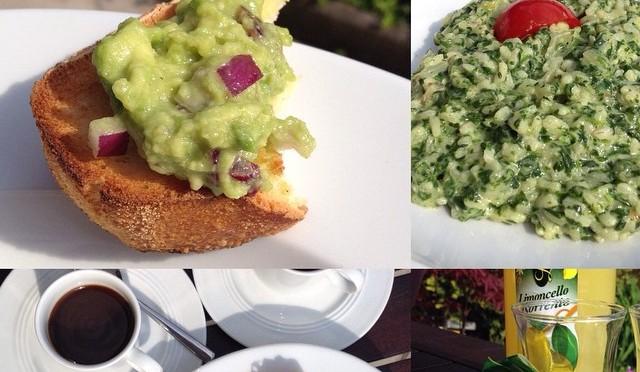 Unser #vegetarisches Sonntagsmenü für #WHPcolorfulcooking : #Guacamole mit roten Zwiebeln #Spinatrisotto #Kaiserschmarrn & #Espresso #Limoncello